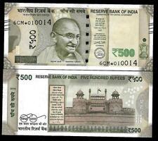 """Rs.500/- Urjit Patel  Star Note """"PLAIN"""" Inset  Prefix 6CM  2016 - UNC  LATEST"""