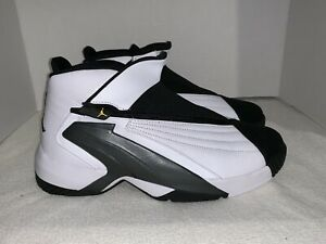 Nike Air Jordan Jumpman Swift White Yellow Black US SIZE 11.5 Men's AT2555-100
