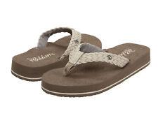 Women Cobian Braided Bounce Flip Flop Sandal BRB10-110 Cream 100% Authentic New