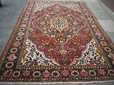 VECCHIO Fatto a Mano Tradizionale Tappeti Persiani Orientale Lana Tappeto Rosso Arancio 306x215cm