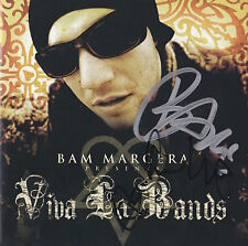 BAM MARGERA SIGNED VIVA LA BANDS CD DON VITO JACKASS AWESOME SHOWSTUFF