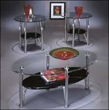 Ashley Furniture Living Room Set 3 Piece Coffee Table Set Glass Contemporary