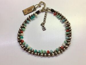 "NWT Uno de 50 Leather Choker Necklace with Colorful Crystals ""Sunshine"""