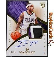 2012-13 Isaiah Thomas Panini Immaculate 3 Color RC Rookie Patch Auto /99