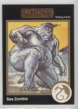 1992 TSR Advanced Dungeons & Dragons 620 Greyhawk Adventures Sea Zombie Card 1k3