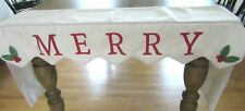 WINTER CHRISTMAS FIREPLACE MANTEL SCARF ~ MERRY TABLE TOPPER ~