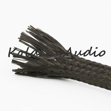 1m Carbon Fiber Fabric braided Sleeve 3k Aerospace 8mm
