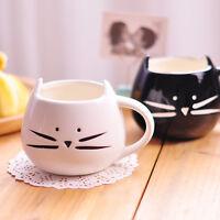 420ml Cat Coffee Milk Tea Drink Ceramic Mug Cup  Black/White Lover Kid Gift Cute