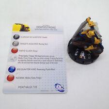 Heroclix Justice League New 52 set Deathstroke #020 Rare figure w/card!
