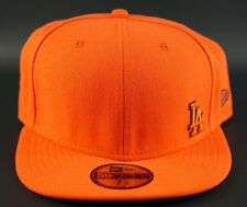 7 1/2 NEW ERA LA DODGERS 59Fifty Fitted ORANGE BLACK hat Cap 59.6cm Baseball