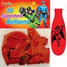 30 Super Hero Balloons - Latex Kids Party/Loot Fun Toys Bag Marvel Batman DC
