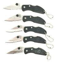Pocket Knife Stainless Steel Blade Folding Lock Back Handle Key Chain NIB