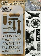 Tim Holtz Mixed Media stamp & stencil set - THMM105 - Air travel & arrows