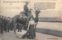 CPA 76 SOUVENIR DU HAVRE GARE MARITIME J.B.DOUSSINEAU EX BOULANGER AVEC CHAMEAU