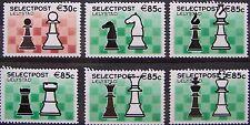 Stadspost Lelystad 2002 - Serie van 6 zegels Schaken, Chess (groen)