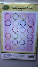 JustRite Calligraphy Ink Circles Cling Stamp Background Stamp CL-06006