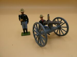 Hocker / Britains Spanish American War U.S.Artillery Gatling Gun soldiers