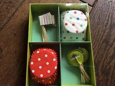 BNIB Cake Decorating Set - Paper Cake Cases & Flag & Cake Paper Picks