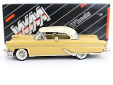 1955 Lincoln Capri Yellow/Gold Western Models Small Wheels 1:43 Diecast WMS 74