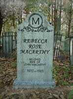 Evil Soul Studios LIFE SIZE Vintage Rebecca Rose Tombstone Halloween Prop  NEW