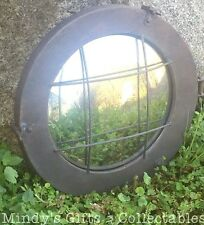 34cm Vintage Industrial Style Solid Metal Nautical Porthole Mirror Garden Art