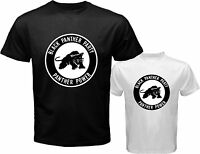 New Black Panther Party Logo *Malcolm X Men's White Black T-Shirt Size S to 3XL
