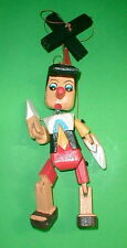 """Pinocchio Marionette Puppet  Hand Carved Wood Large 16"""" Disney  Pinochio"""