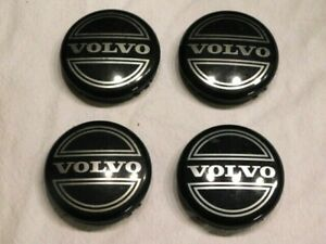 4 OEM Volvo Black Center Caps for S60 V70/XC70 S80 XC90 C70 S40 V50 C30 8646379