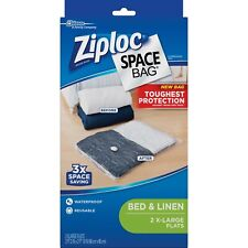 Ziploc SPACE BAG EXTRA LARGE 3 FLAT, Waterproof Reusable NEW FREE SHIPPING