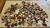 Vintage Lot of Buttons & Beads 2.5 Pounds Various Styles & Materials