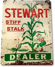 Stewart Stiff Stalk Corn Dealer Vintage Retro Tin Metal Sign