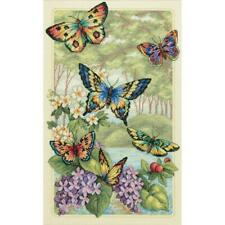 """Dimensions Gold Collection Counted Cross Stitch Kit Butterfly Forest 10""""X16"""" NEW"""