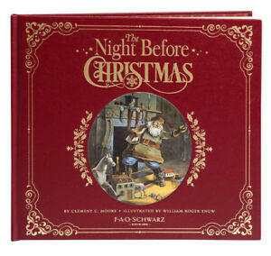 FAO Schwarz The Night Before Christmas Clement Moore William Snow Heritage Book