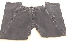Rare Vtg 90's Nautica Carpenter Utility Jeans Loop Dark Wash Denim Mens 32 X 34
