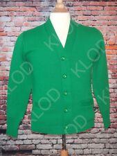 Vintage Dehen Knitting co. Green Men's Varsity Cardigan Sweater size 34