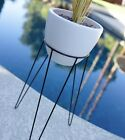 MODERN TRIPOD HAIRPIN BASE PLANTER & STAND - MID CENTURY EAMES ERA BULLET STYLE