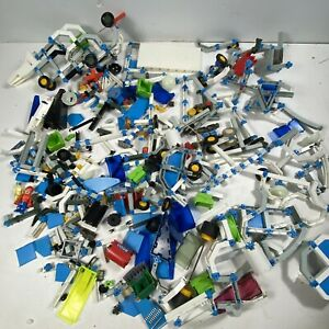 Vtg Fisher Price CONSTRUX Huge Lot ~Space parts, Construction