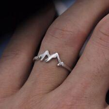 Vegan Fashion Made Metal Size 5-12 Mountain Symbol Jewelry Ring Love Gift Unisex