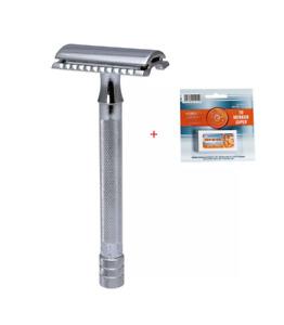 Merkur 23C Chrome Safety Razor + 10 Merkur Blades free