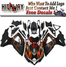 Fairings For Suzuki GSXR600 750 2008-2010 08 09 10 ABS Fairing Kit Black Orange