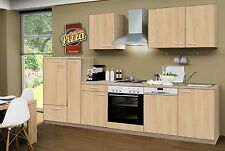 Küchenzeile Classic Sonoma eiche Nb. KF GS 310cm, incl.E-Geräte, Geschirrspüler