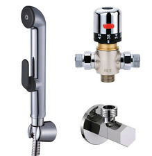 Bathroom Thermostatic Mixer Valve Hand Held shower bidet sprayer Douche Kit sets