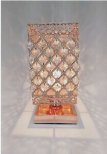Touch Lamp Patterned rose gold  Wired  Table Desk Stylish Lamp Modern Decor 30cm
