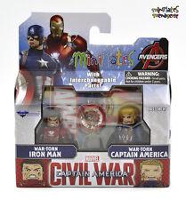 Marvel Minimates Series 67 Civil War Movie War-Torn Iron Man & Captain America