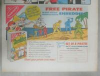 """Nabisco Cereal Ad: """"Free Pirate"""" Premium Shredded Wheat from 1959 Size: 7 x 10"""