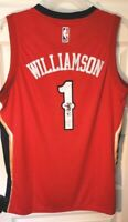ZION Williamson #1 Signed NWT Pelicans Red Nike Swingman Jersey L/50 WOW! w/COA!