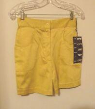 """NWT KENAR STUDIO LEMON YELLOW Shorts Size 6 (25""""W)"""