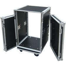 """Flightcase 16HE 19"""" Rollen bluewheels Rackschienen v+h 9mm Multiplex RACK CASE"""