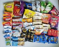 More than 50 Pcs of randomly Assorted Snacks, Cookies, Nuts, Candies In A Box