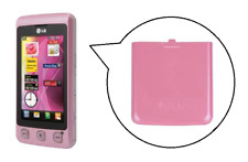 Rückseite / Batterieabdeckung (rosa) ~ lg KP500 Plätzchen